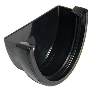 FloPlast 115mm High Capacity Gutter External Stopend - Black