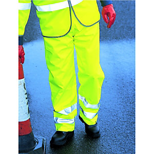 Wickes Class 1 High Visibility Trousers Yellow Large