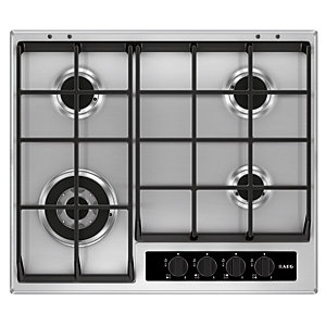 AEG 60cm Gas Hob with Wok Burner HG654550SY