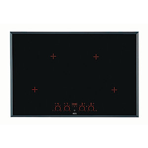 AEG 80cm 4 Zone Induction Hob Black HK874400FB