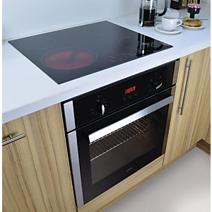 CDA Electric Fan Oven & Touch Control Ceramic Hob Pack