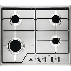 Electrolux 60cm 4 Burner Gas Stainless Steel Hob KGS6424X