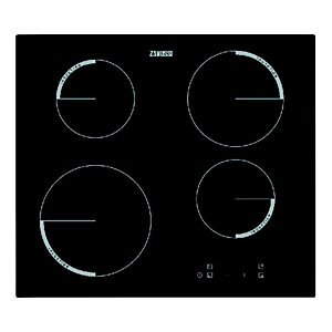 Zanussi 60cm 4 Zone Induction Hob Black ZEI6240FBA