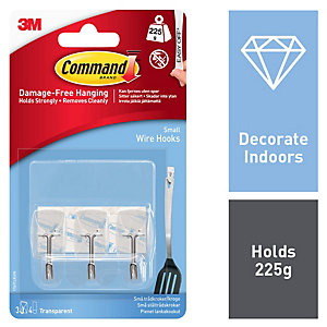 Command Wire Utensil Hooks - Clear Pack of 3