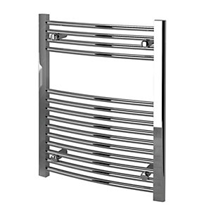 Kudox Curved Towel Radiator - Chrome 600 x 750 mm