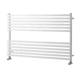 Wickes Invent Square Horizontal Designer Towel Radiator - White 600 x 1000 mm