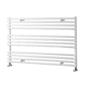Wickes Liquid Round Horizontal Designer Towel Radiator - White 600 x 1000 mm