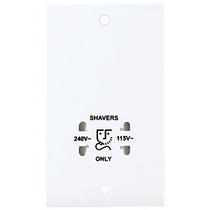 BG Dual Voltage Shaver Socket - White