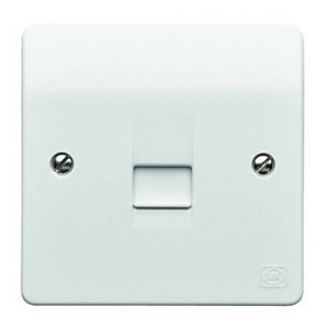 MK Single Master Telephone Socket  - White