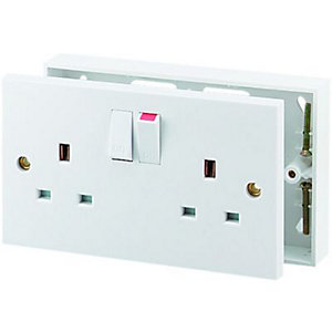 Wickes Converter Kits - White Single to Double Socket