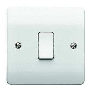 MK 10A Light Switch 1 Gang 2 Way K4871RPWHI