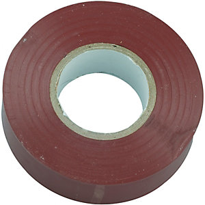 Wickes Electrical Insulation Tape - Brown 20m Pack of 10