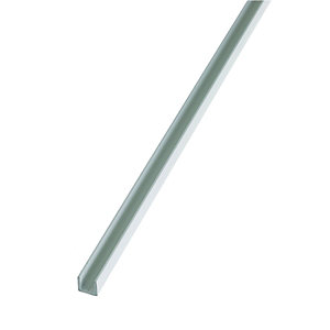 Wickes 15.5mm Multi-Purpose U Section - White PVCu 1m