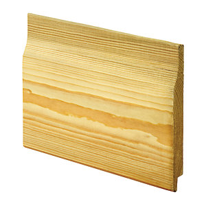 Wickes Rebated Shiplap Cladding - 14.5mm x 119mm x 2.4m Pack of 4
