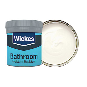 Wickes Bathroom Soft Sheen Emulsion Paint Tester Pot - No. 110 Pure Cotton 50ml