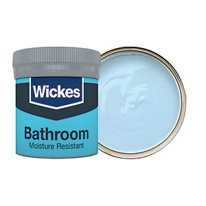 Wickes Bathroom Soft Sheen Emulsion Paint Tester Pot - No. 910 Sky 50ml