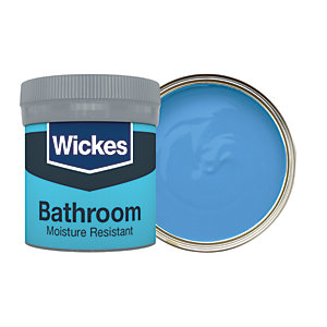 Wickes Bathroom Soft Sheen Emulsion Paint Tester Pot - No. 931 Waves 50ml