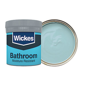 Wickes Bathroom Soft Sheen Emulsion Paint Tester Pot - No. 960 Blue Jeans 50ml