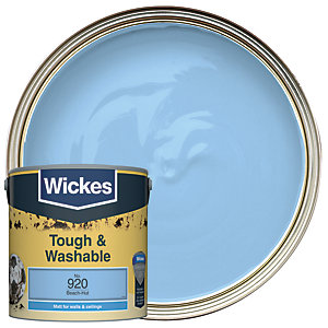 Wickes Beach-Hut - No. 920 Tough & Washable Matt Emulsion Paint - 2.5L