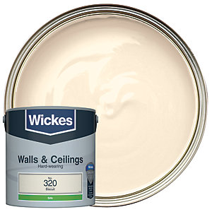 Wickes Biscuit - No. 320 Vinyl Silk Emulsion Paint - 2.5L