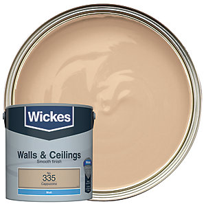 Wickes Cappuccino - No. 335 Vinyl Matt Emulsion Paint - 2.5L