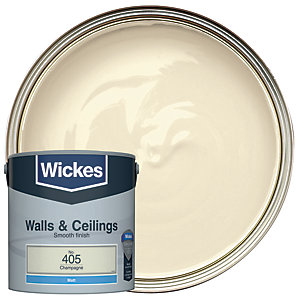 Wickes Champagne - No. 405 Vinyl Matt Emulsion Paint - 2.5L