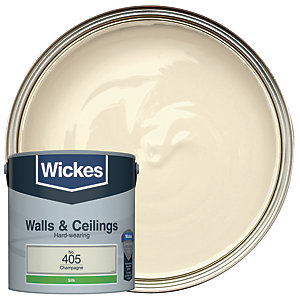Wickes Champagne - No. 405 Vinyl Silk Emulsion Paint - 2.5L