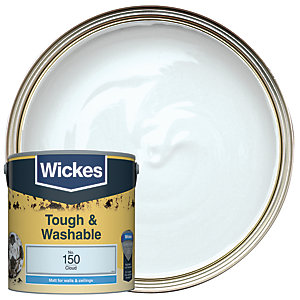 Wickes Cloud - No. 150Tough & Washable Matt Emulsion Paint - 2.5L