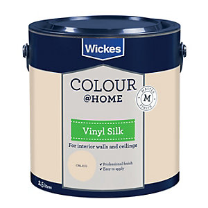 Wickes Colour @ Home Vinyl Silk Emulsion Paint - Calico 2.5L