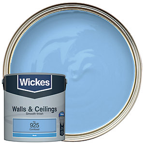 Wickes Cornflower - No. 925 Vinyl Matt Emulsion Paint - 2.5L