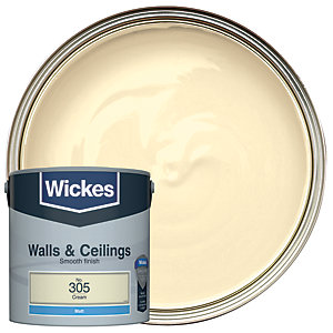 Wickes Cream - No. 305 Vinyl Matt Emulsion Paint - 2.5L