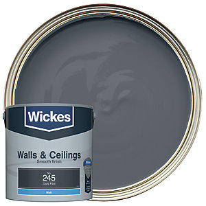Wickes Dark Flint - No. 245 Vinyl Matt Emulsion Paint - 2.5L