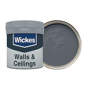Wickes Dark Flint - No. 245 Vinyl Matt Emulsion Paint Tester Pot - 50ml