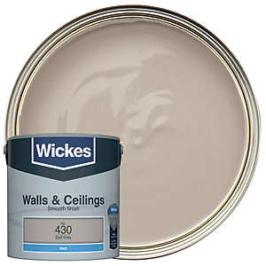Wickes Earl Grey - No. 430 Vinyl Matt Emulsion Paint - 2.5L