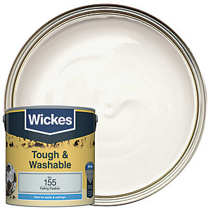 Wickes Falling Feather - No. 155 Tough & Washable Matt Emulsion Paint - 2.5L