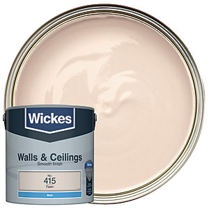 Wickes Fawn - No. 415 Vinyl Matt Emulsion Paint - 2.5L