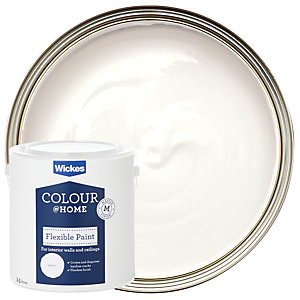 Wickes Flexible Ceiling Emulsion Paint - White 2.5L