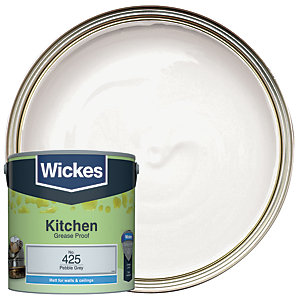 Wickes Kitchen Matt Emulsion Paint - No. 425 Pebble Grey 2.5L
