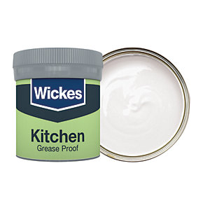 Wickes Kitchen Matt Emulsion Paint Tester Pot - No. 140 Powder Grey 50ml