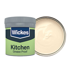 Wickes Kitchen Matt Emulsion Paint Tester Pot - No. 310 Magnolia 50ml