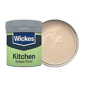 Wickes Kitchen Matt Emulsion Paint Tester Pot - No. 330 Soft Cashmere 50ml