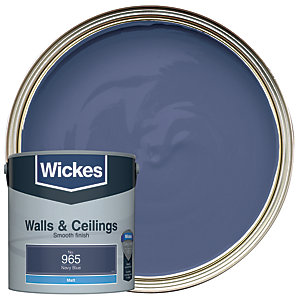Wickes Navy Blue - No. 965 Vinyl Matt Emulsion Paint - 2.5L