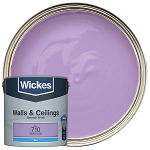 Wickes Parma Violet - No. 710 Vinyl Matt Emulsion Paint - 2.5L