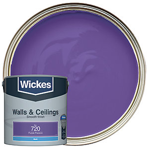 Wickes Purple Passion - No. 720 Vinyl Matt Emulsion Paint - 2.5L