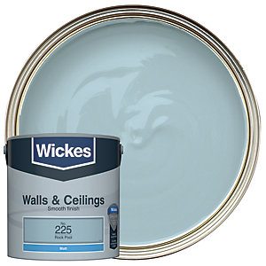Wickes Rock Pool - No. 225 Vinyl Matt Emulsion Paint - 2.5L