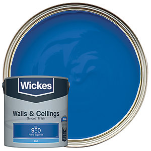Wickes Royal Sapphire - No. 950 Vinyl Matt Emulsion Paint - 2.5L