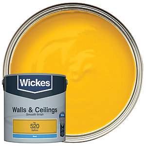 Wickes Saffron - No. 520 Vinyl Matt Emulsion Paint - 2.5L
