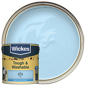 Wickes Sky - No. 910 Tough & Washable Matt Emulsion Paint - 2.5L