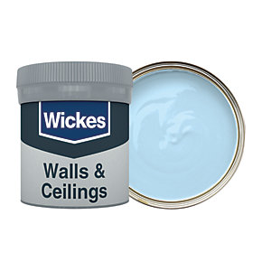 Wickes Sky - No. 910 Vinyl Matt Emulsion Paint Tester Pot - 50ml