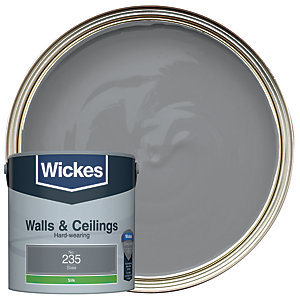 Wickes Slate - No. 235 Vinyl Silk Emulsion Paint - 2.5L